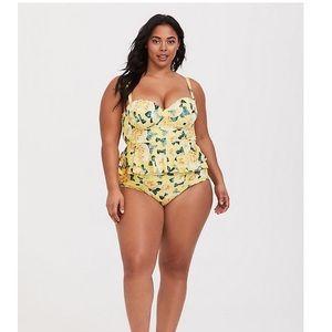 Torrid 2x yellow rose bikini top